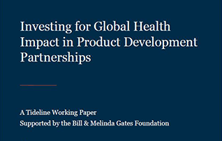 Investing for Global Health Impact in Product Development Partnerships
